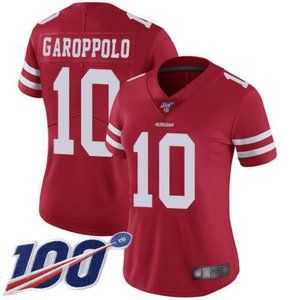 Women 49ers Jimmy Garoppolo 100th Jersey